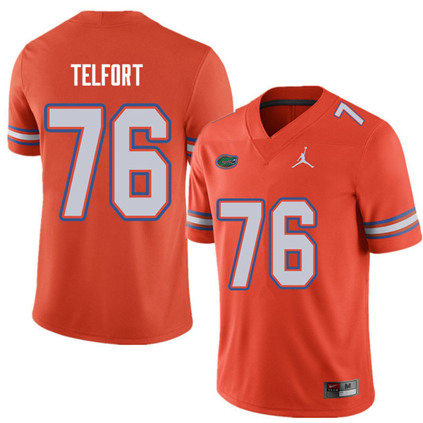 Jordan Brand Men #76 Kadeem Telfort Florida Gators College Football Jerseys Sale-Orange